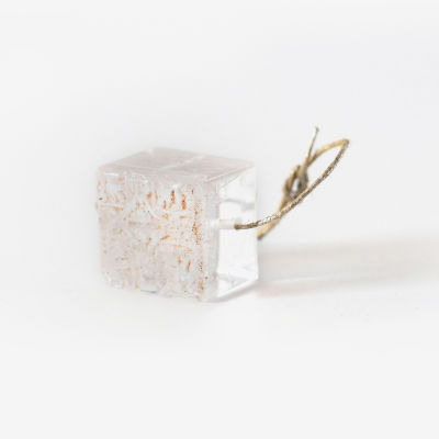 Pendant, cube with star